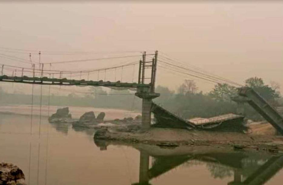 भारतमा गएको भूकम्पले चितवनमा पुल भत्किएको आशंका