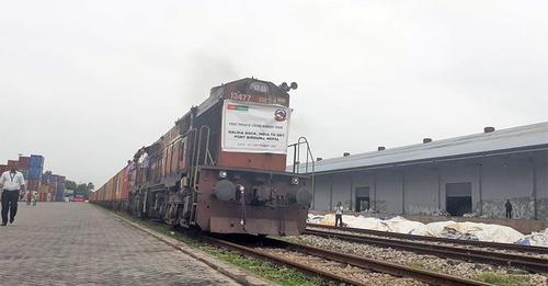 भारतबाट वीरगञ्ज आइपुग्यो कार्गो रेल